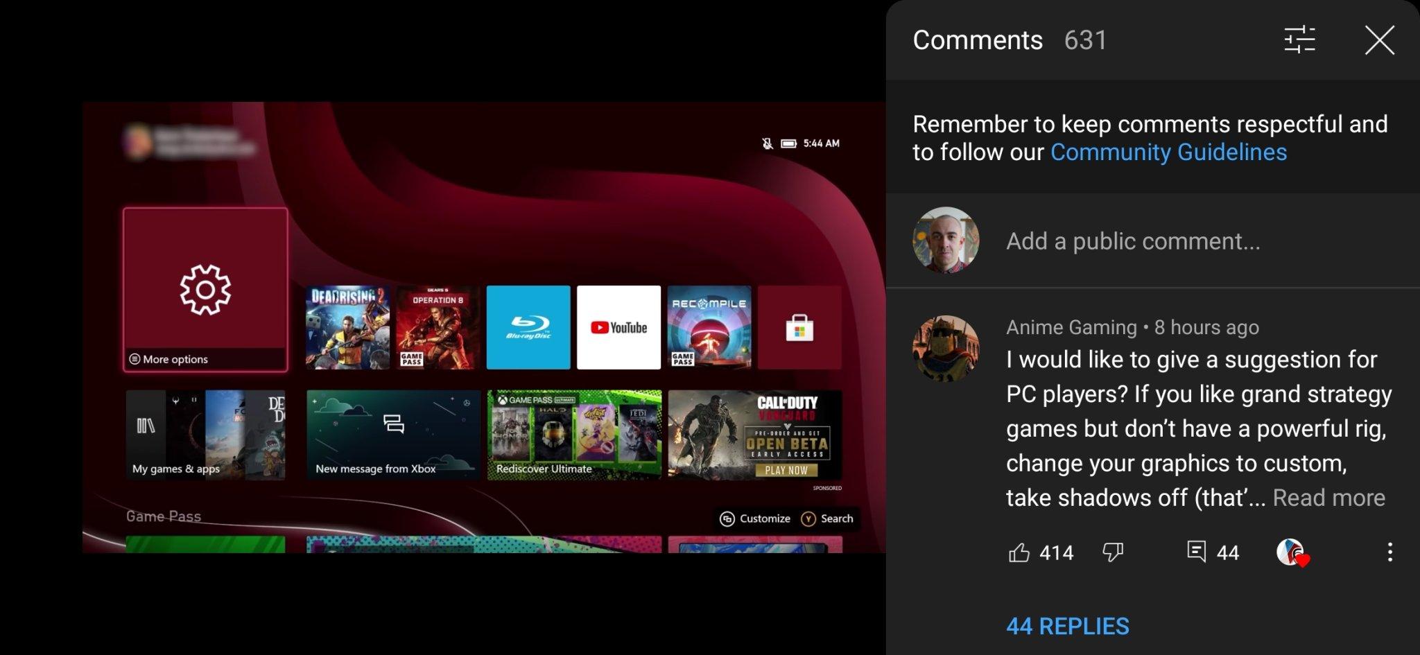 novo sistema de comentários do youtube