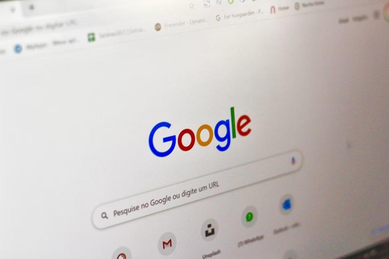 Pesquisa da Google em página de computador