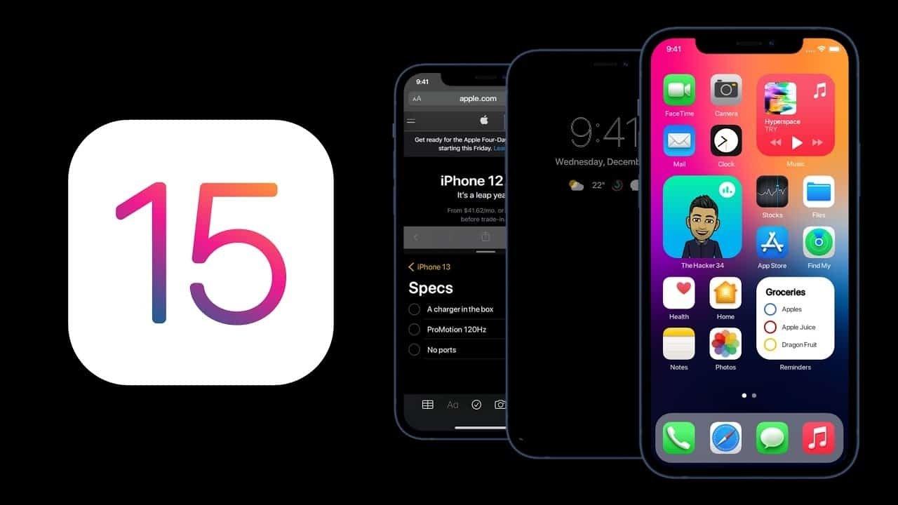iOS 15 da Apple