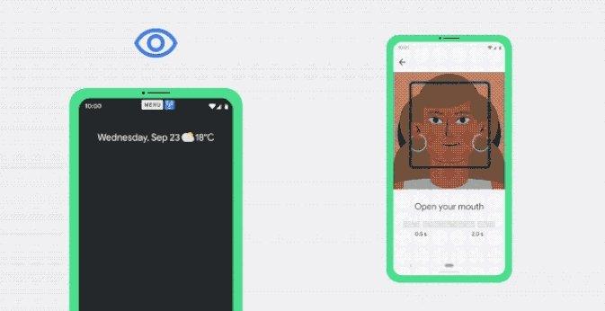 novo sistema de acessibilidade do Android