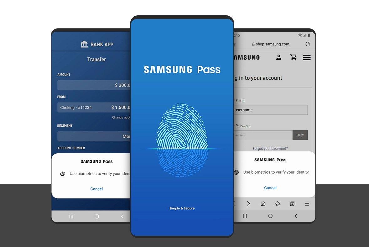 Samsung pass impressão digital
