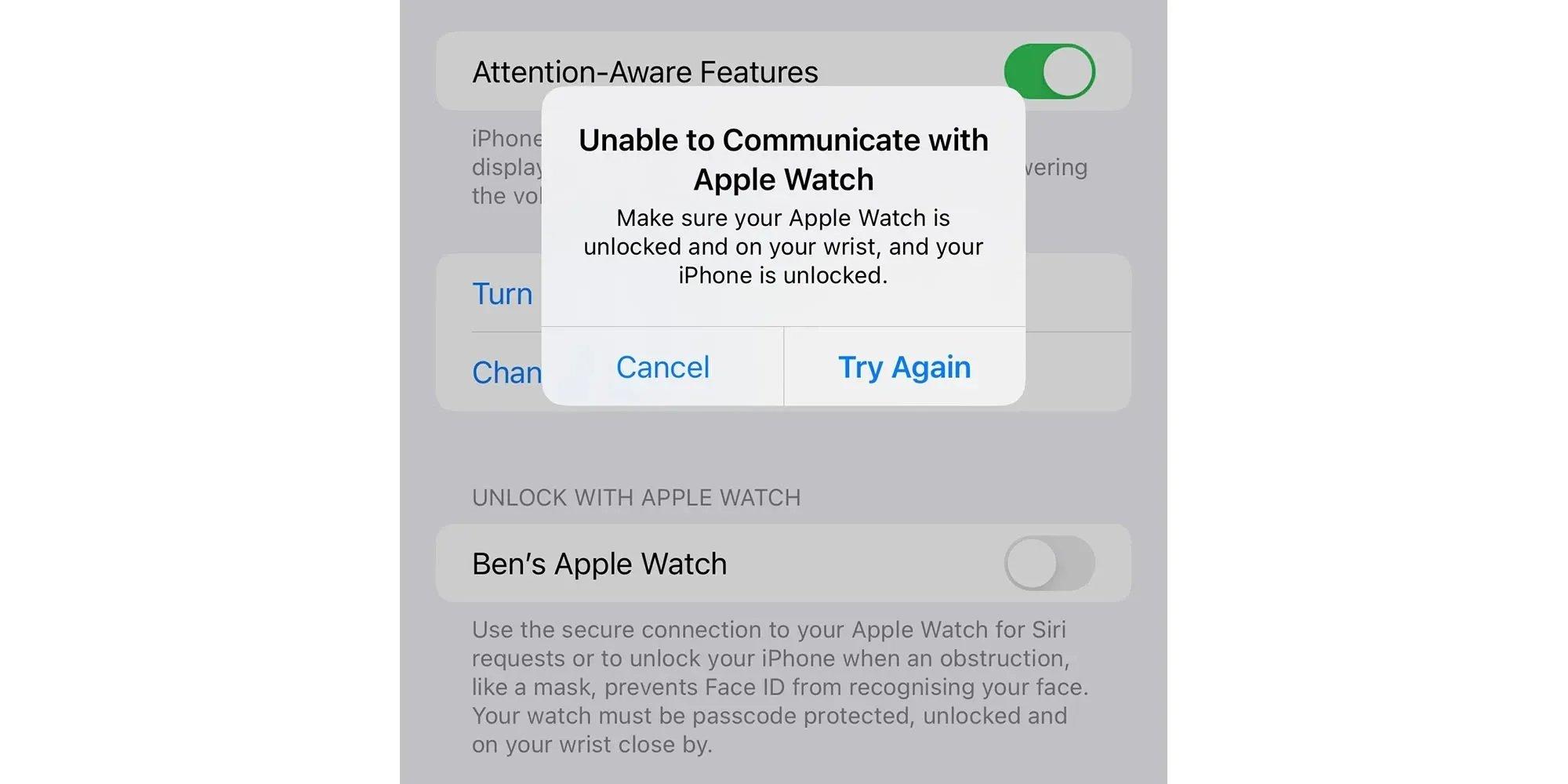 mensagem de erro que surge no iPhone 13