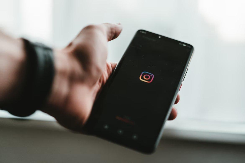 Instagram logo em app