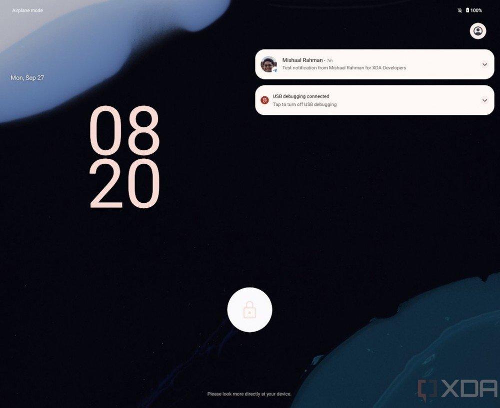 ecrã de bloqueio do android