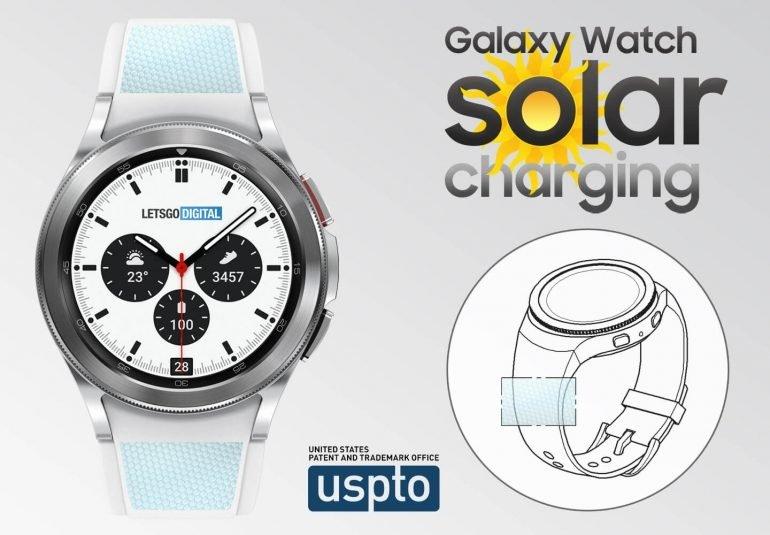 galaxy watch com carregamento solar