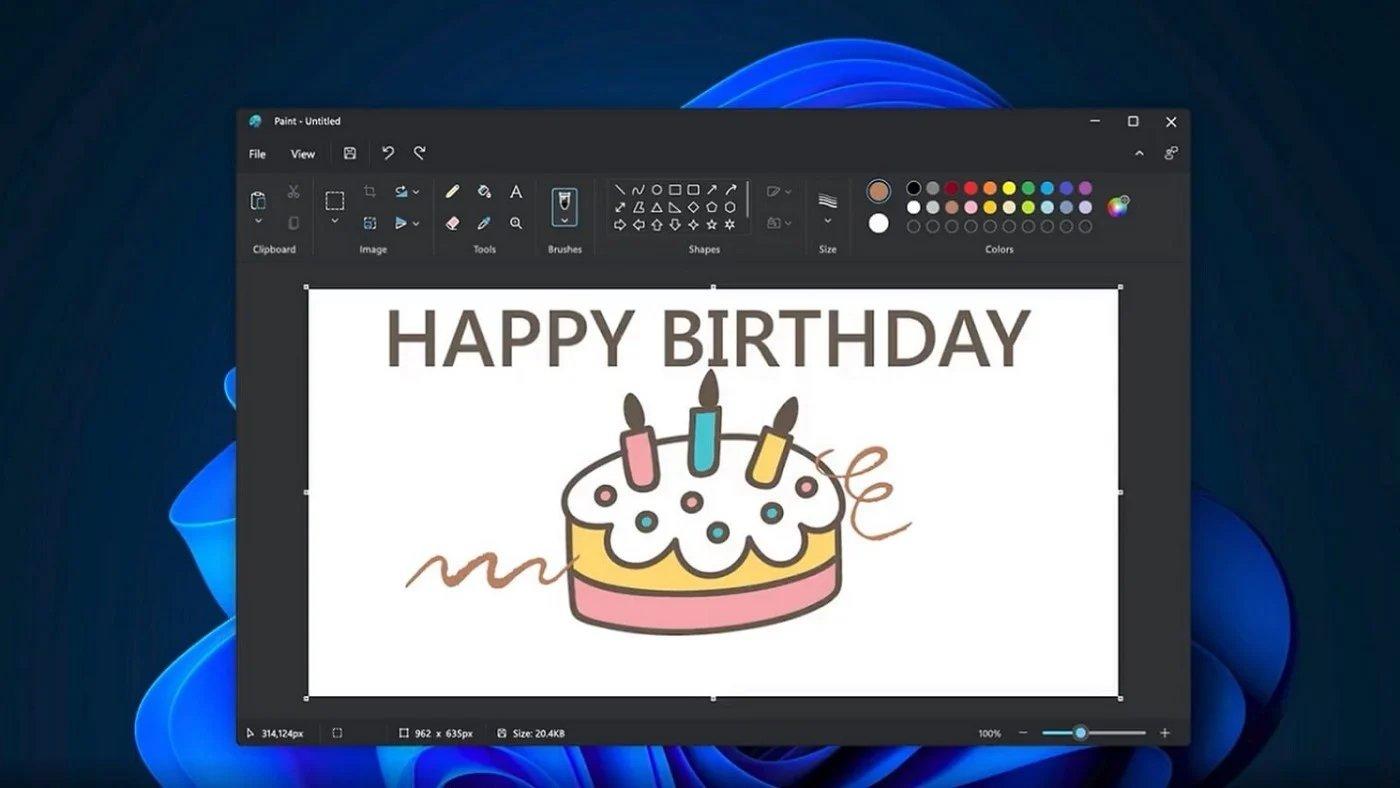 Microsoft Paint no Windows 11