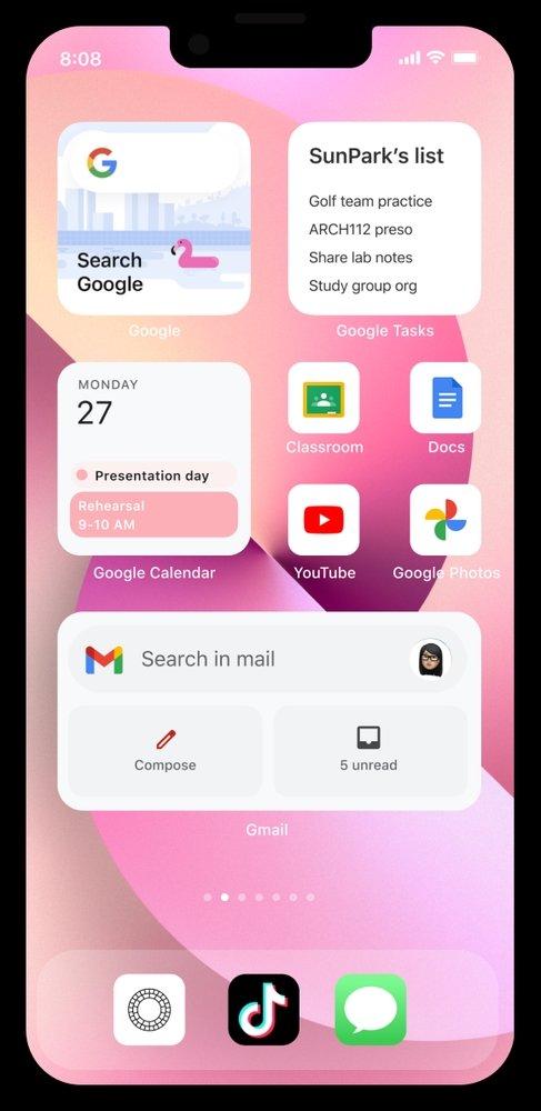 alteração do ecrã do iPhone para Android