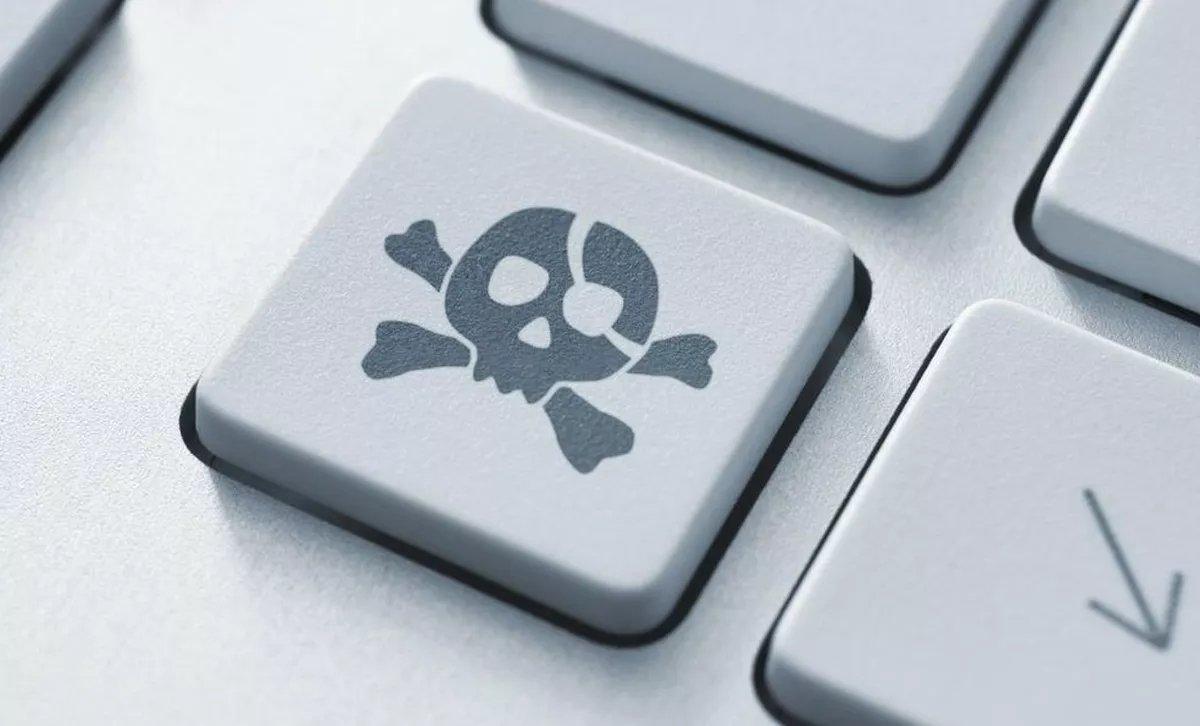 malware em tecla de PC