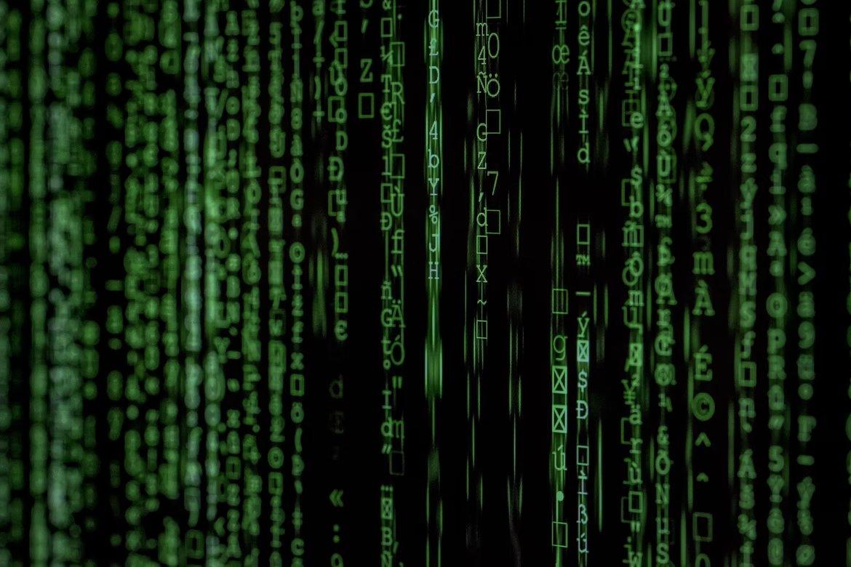 código fonte em verde