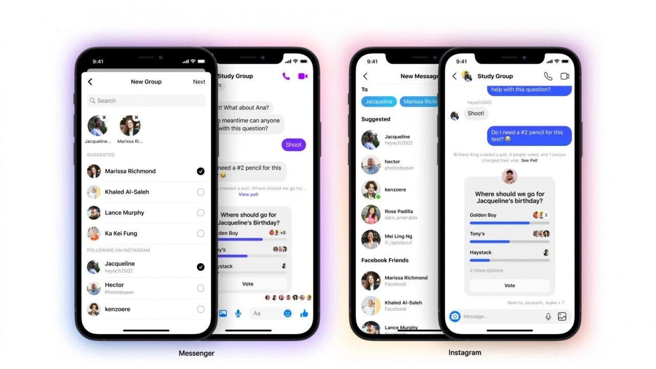 Instagram e Messenger numa só app