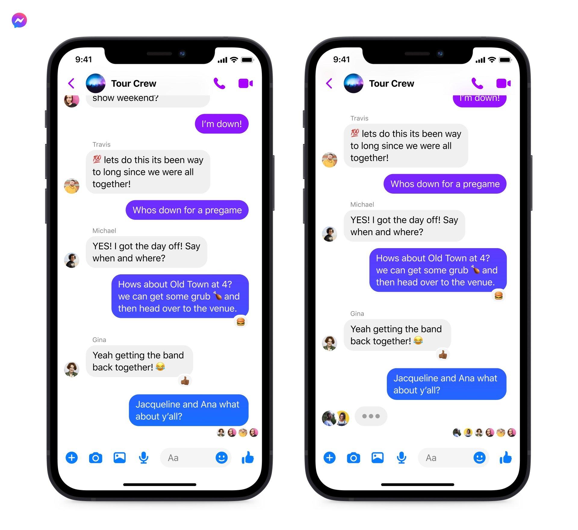 conversas do messenger e instagram