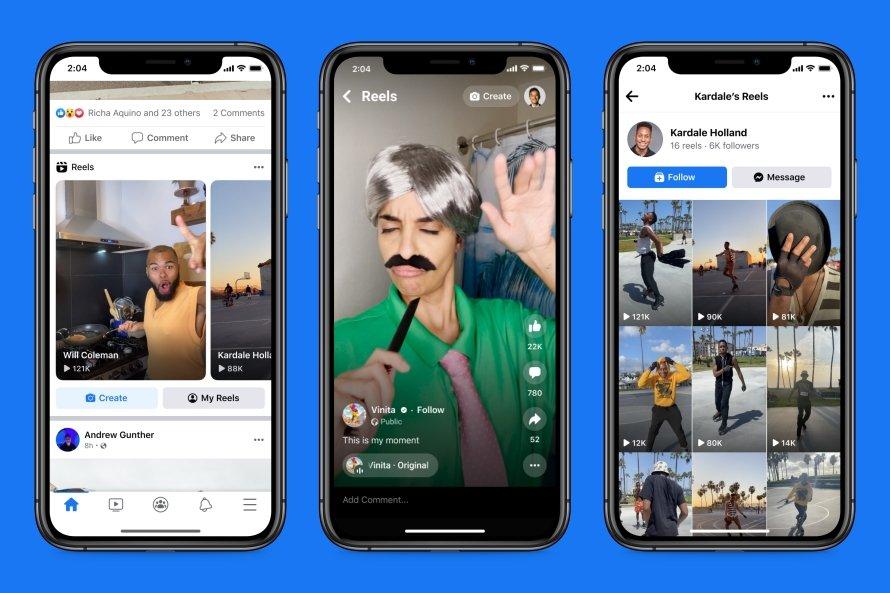 Facebook Reels e Instagram