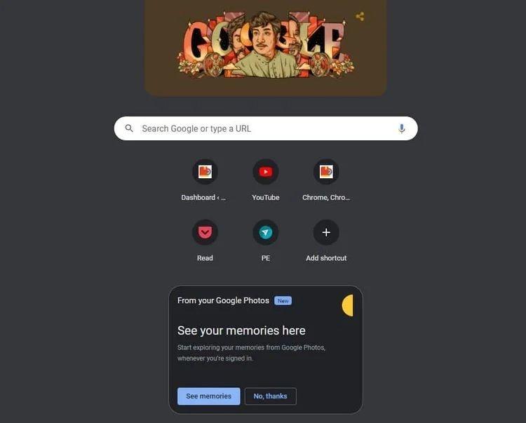 memórias do Google chrome