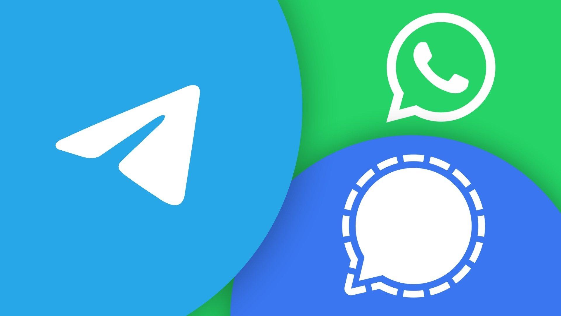 Signal, Telegram e WhatsApp