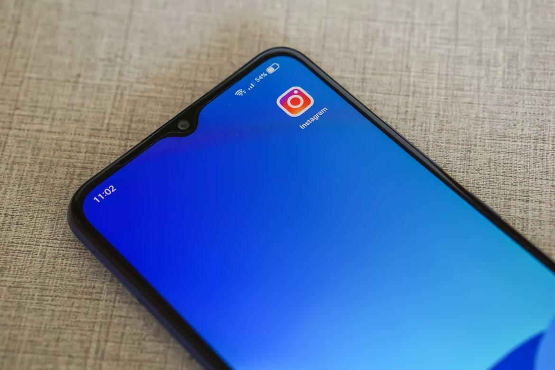 app do instagram em smartphone