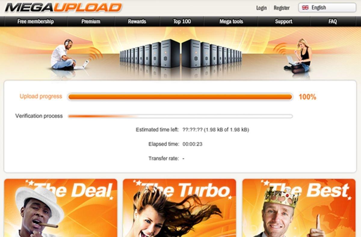 Megaupload website