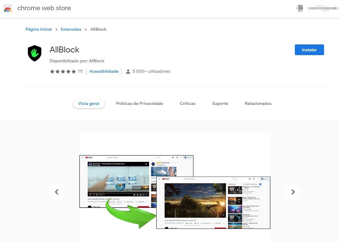 allblock malware na chorme web store