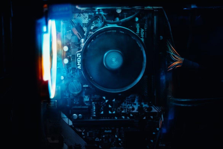 AMD processador em motherboard