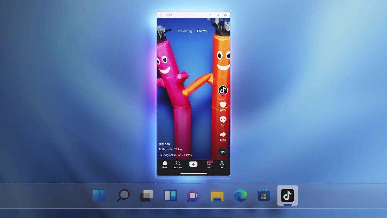 Windows 11 com apps do Android